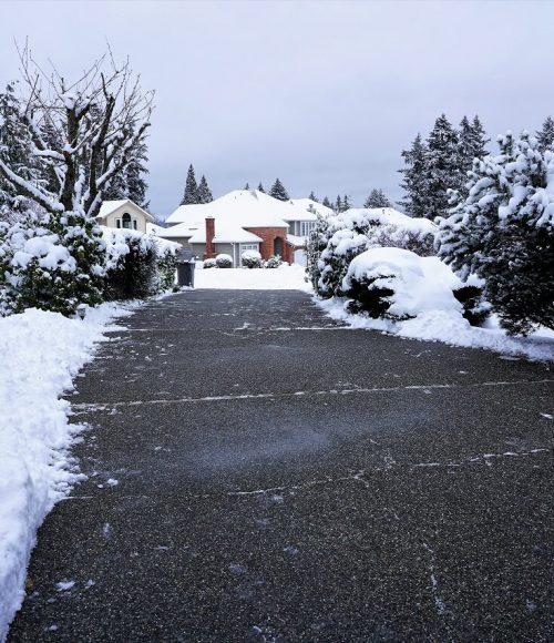 Driveway snow removal